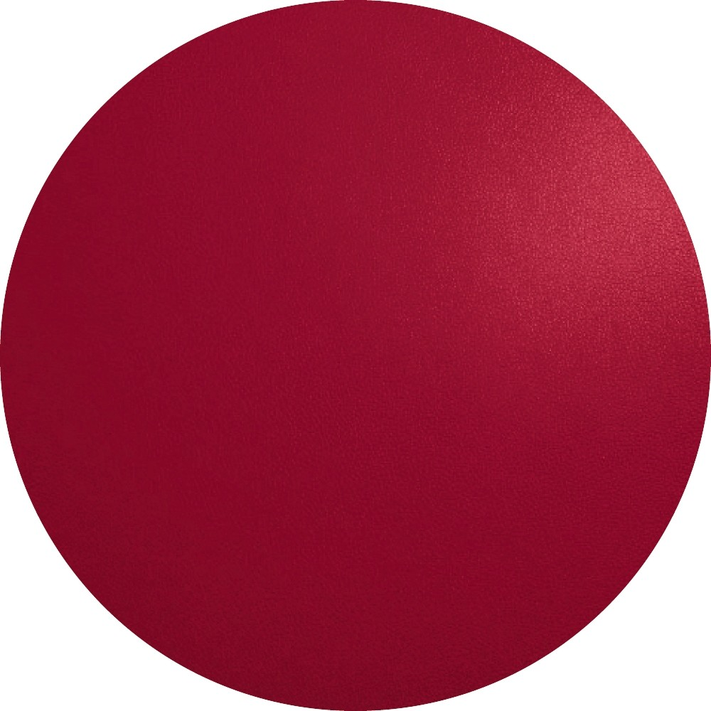 ASA Selection Placemat Leer Rond Rood Ø38 cm