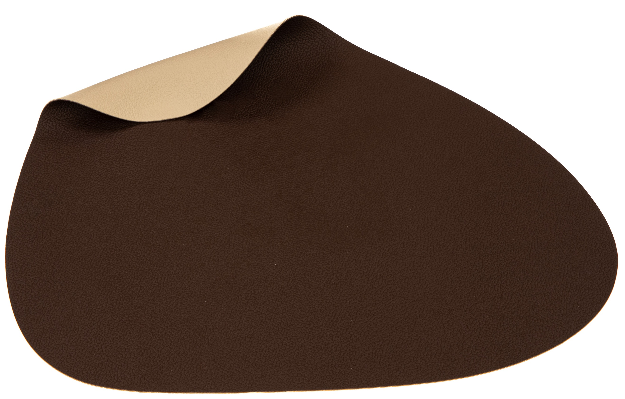 Jay Hill Placemat Leer Bruin Zand Curve 37 x 44 cm