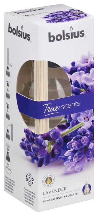 Bolsius Geurstokjes True Scents Lavendel 45 ml