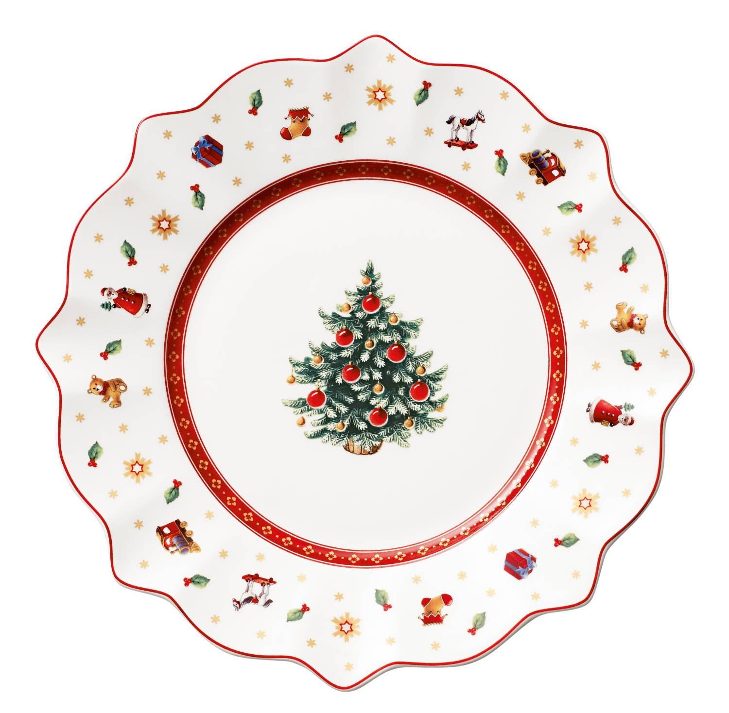 Villeroy & Boch Kerst Toy's Delight, Ontbijtbord 24cm wit