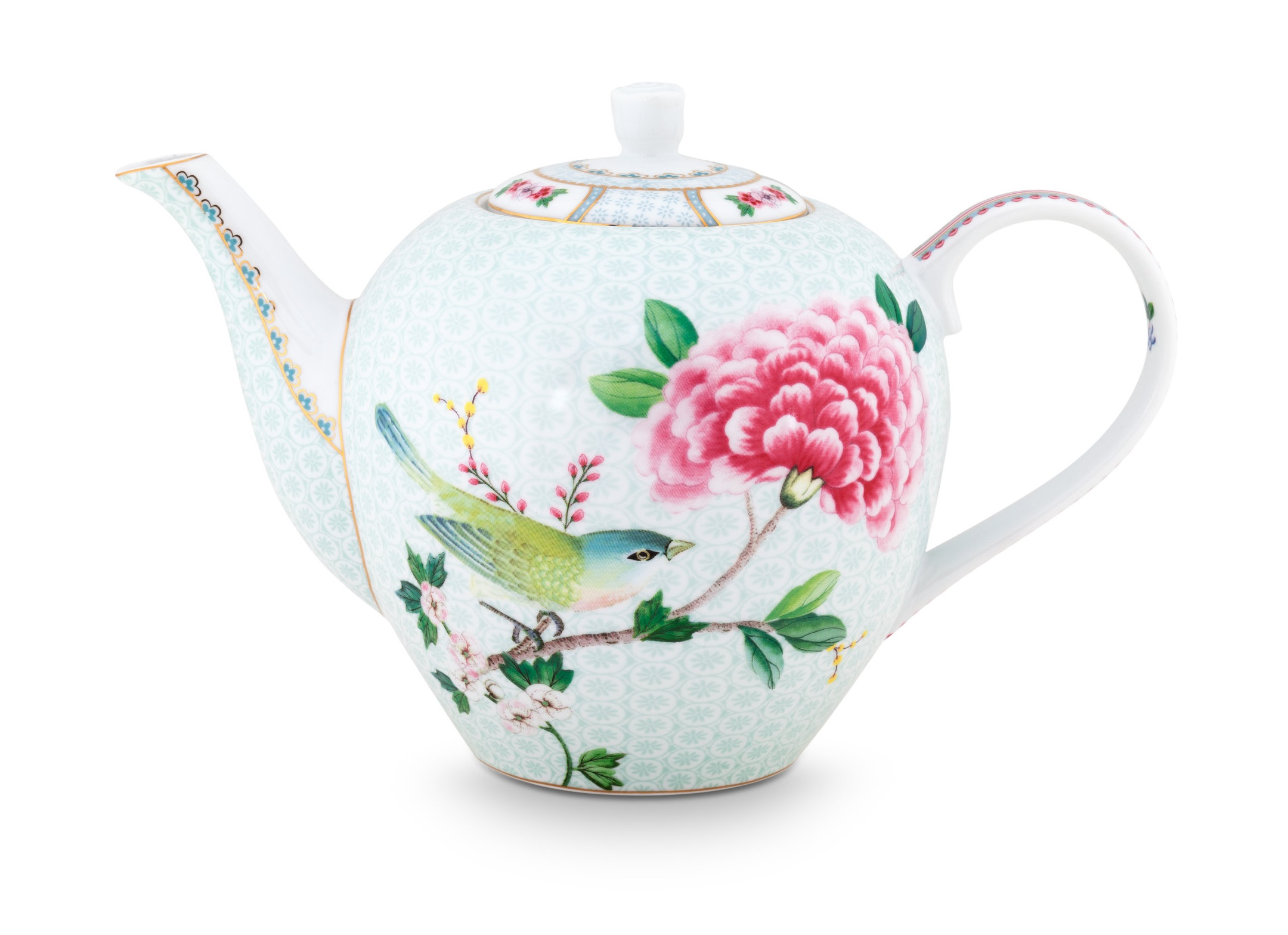 Pip Studio Theepot Blushing Birds 1.6 Liter Wit