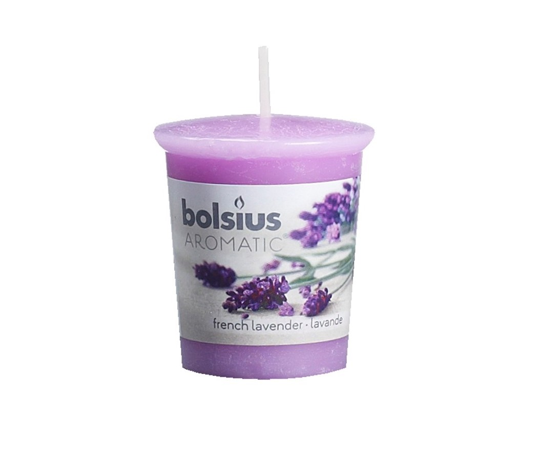 Bolsius Geurkaarsje Aromatic French Lavender 53/45 mm
