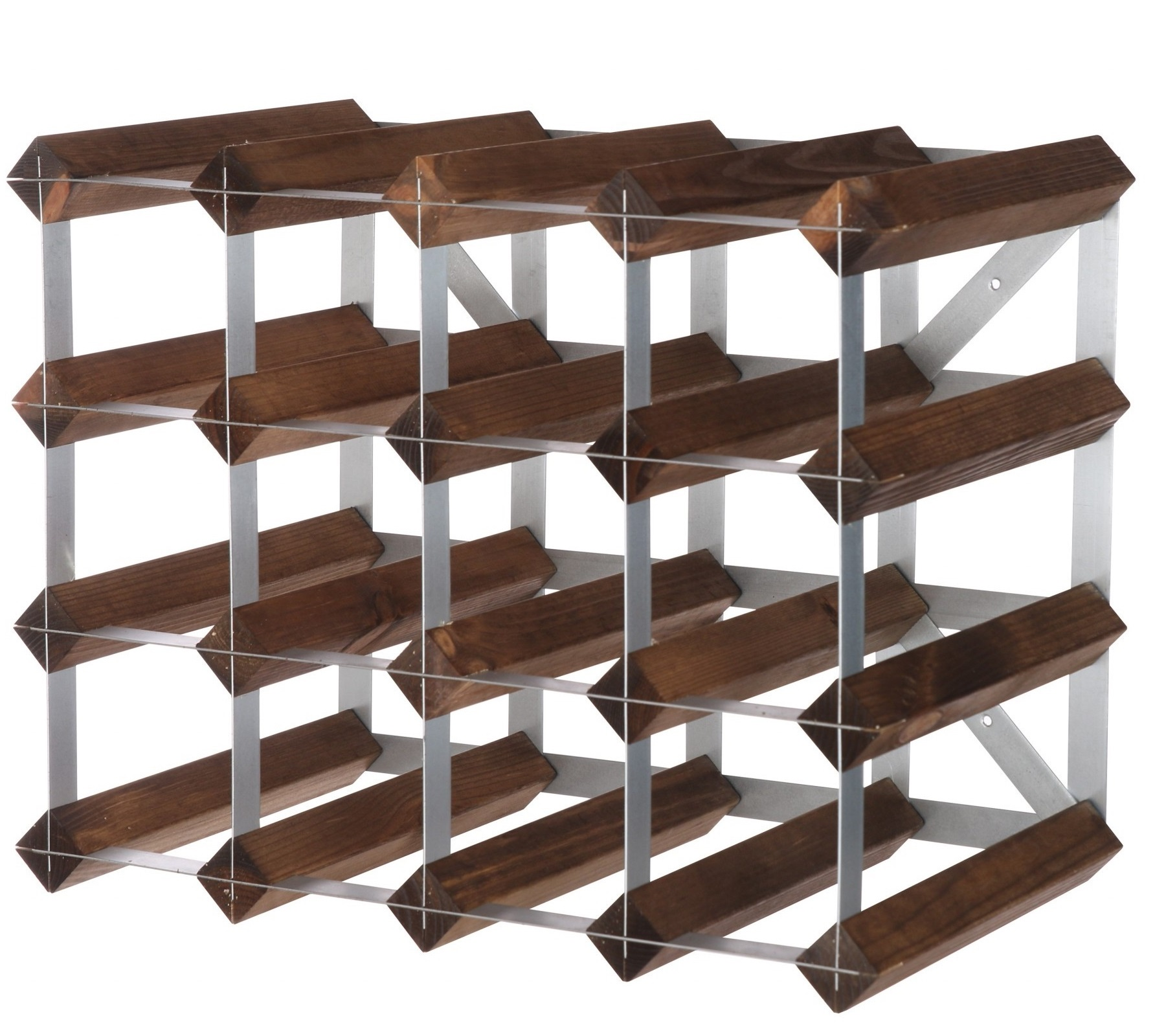 Traditional Wine Rack Co. 16 flessen Dark Oak