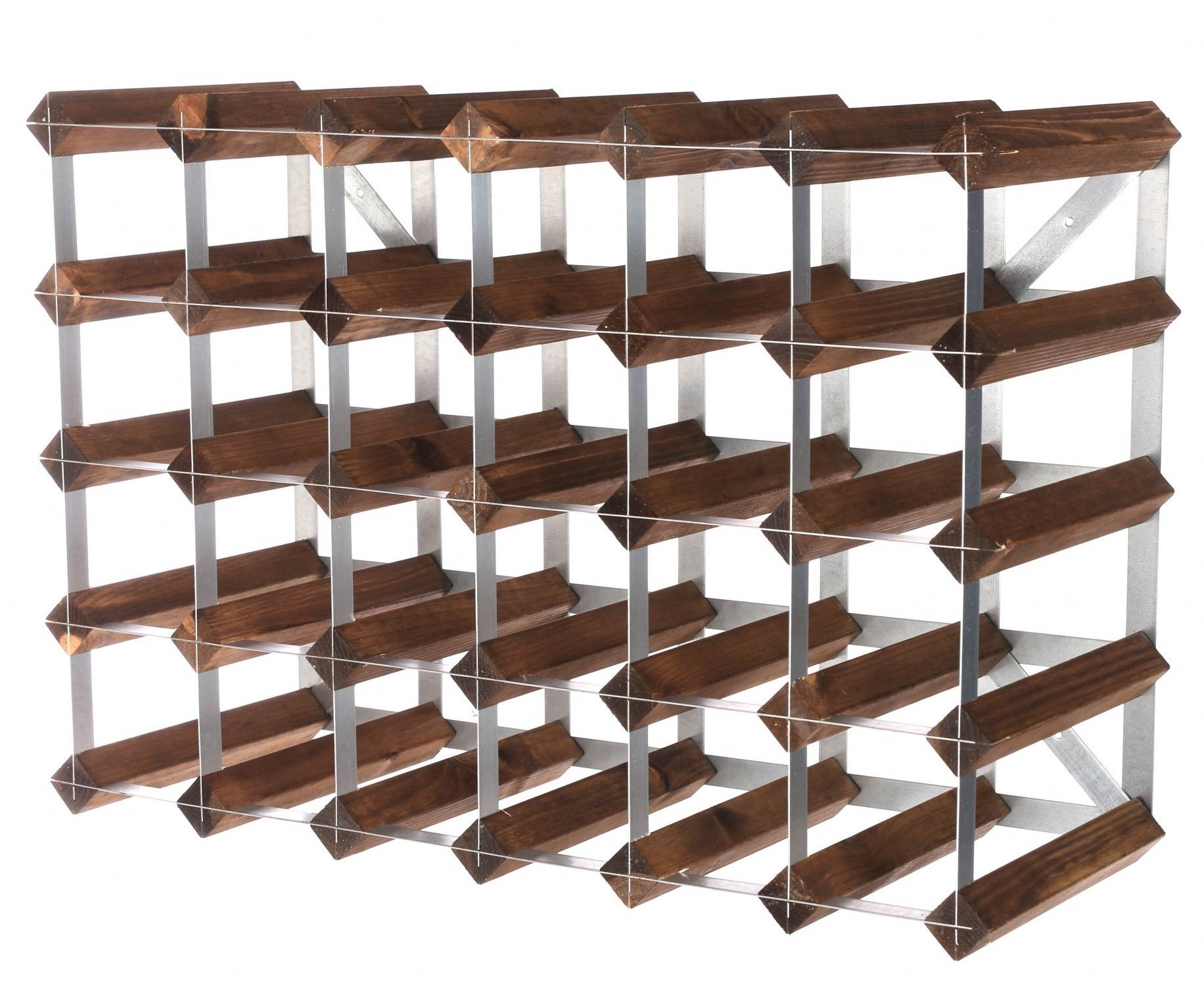 Traditional Wine Rack Co. 30 flessen Dark Oak