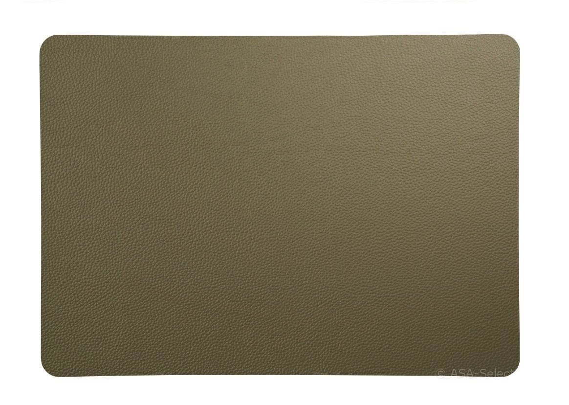 ASA Selection Placemat Leer Groen 33 x 46 cm
