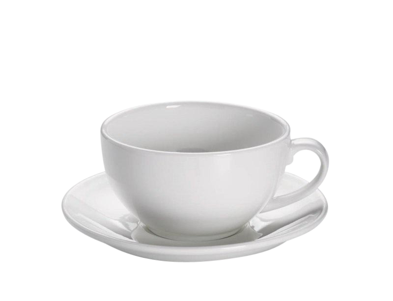 Maxwell & Williams Cappuccino Kop En Schotel White Basics Round